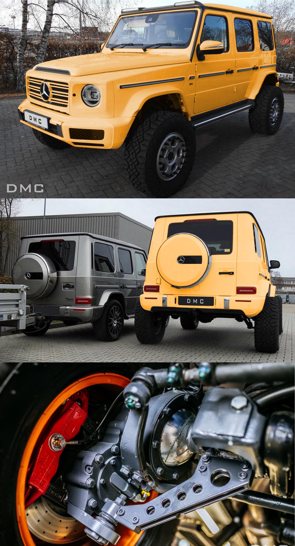 DMC 4x4 Lift Kit: Carbon Fiber Body Kit for the Mercedes G500