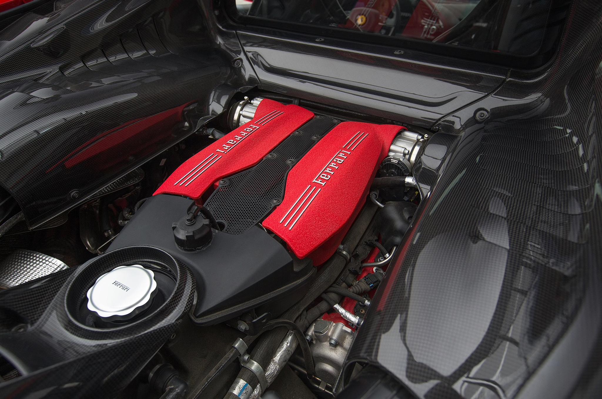 Ferrari 488 Gtb Engine Bay Carbon Fiber Dmc