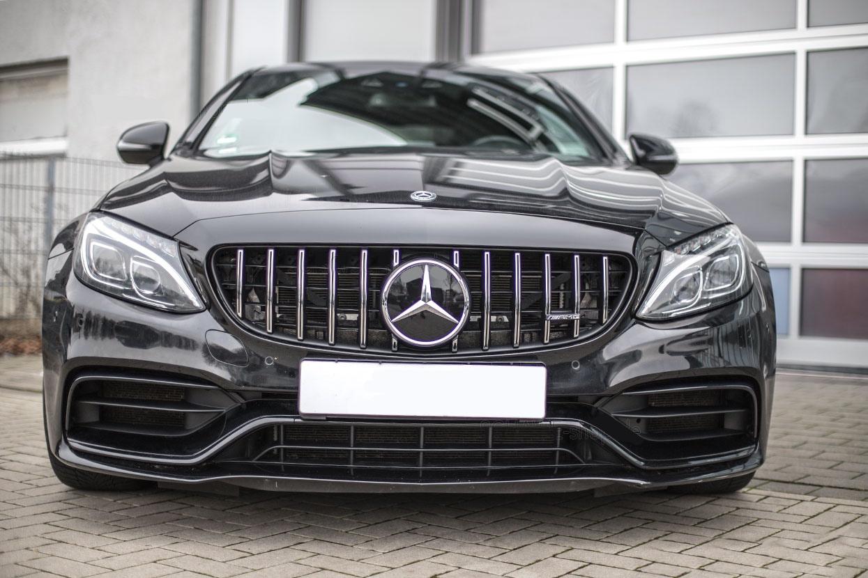 Mercedes Benz C43 W205 Carbon Fiber Panamericana Gt Front Grill 2019 Dmc