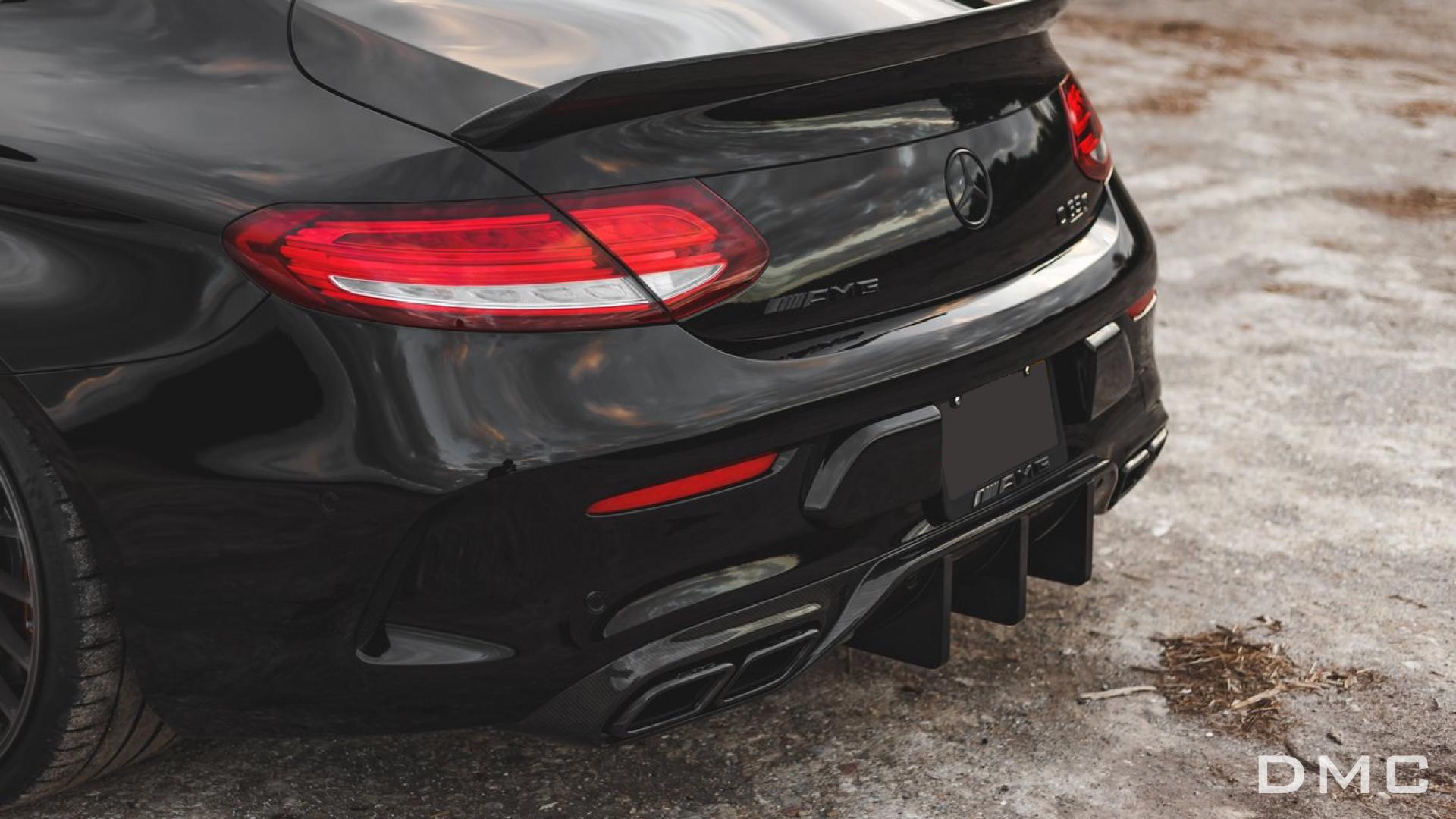 Mercedes Benz C Coupe W205 Amg C63 Carbon Fiber Rear Diffuser Gt Dtm Style Dmc