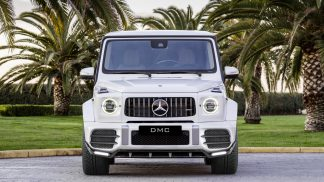 Mercedes Benz G Class G550 AMG G63 W463A W464 Forged Carbon Fiber Front Lip Spoiler with LED Splitters