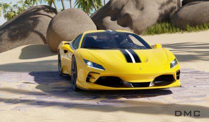 Ferrari F8 Tributo Carbon Fiber Grill Vents for the OEM Bumper 0001
