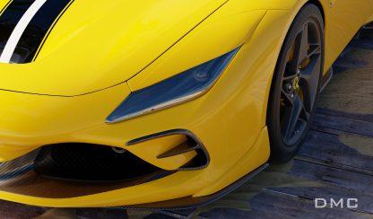 Ferrari F8 Tributo Carbon Fiber Front Lip Carnards for the OEM Bumper 0004