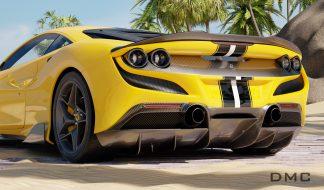 Ferrari F8 Tributo Carbon Fiber Diffuser for the OEM Bumper 0008