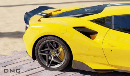 Ferrari F8 Tributo Carbon Fiber Wing Spoiler for the OEM Bumper 0009