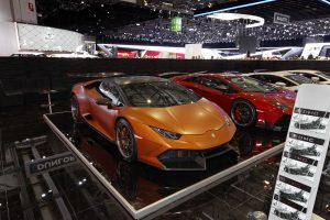 DMC modified Lamborghinis at the Geneva International Motor Show in Switzerland