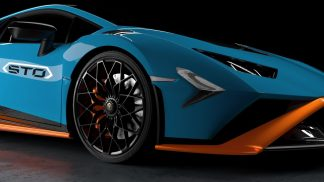 DMC Lamborghini Huracan STO Forged Carbon Fiber Front Bumper Carnards