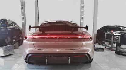 Porsche Taycan Turbo S Sport GT Forged Carbon Fiber Rear Wing Spoiler