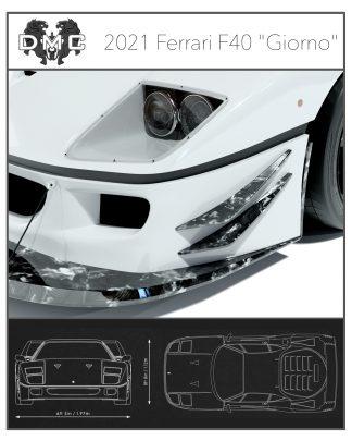 Ferrari F40 Forged Carbon Fiber Front Splitters