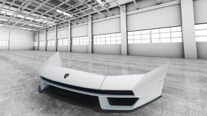 Lamborghini Countach LPi-800 2021 Front Bumper for the Aventador made from Carbon Fiber