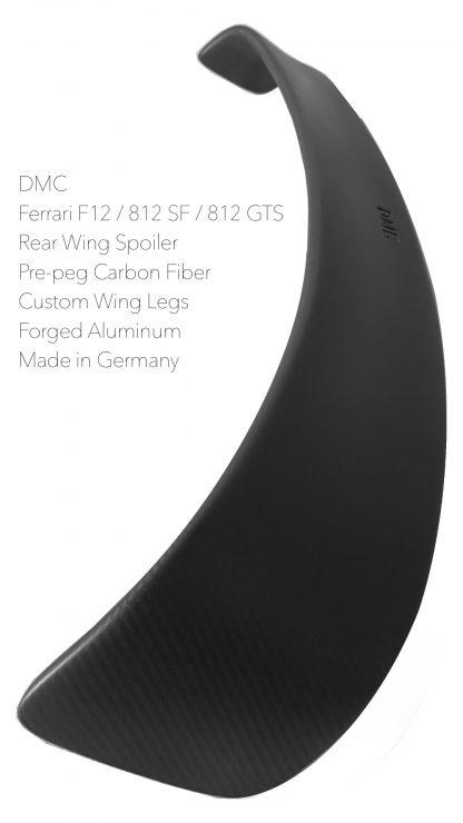 Ferrari 812 SF GTS Superfast Forged Carbon FIber GT Rear WIng Spoiler