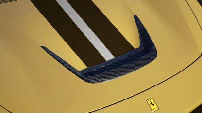 Ferrari F8 Bonnet Hood Insert Carbon Fiber