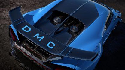DMC Bugatti Chiron Pur Sport Forged Carbon Fiber Rear Wing Spoiler OEM Facelift Aero Kit Package