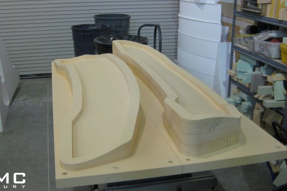 Mold for Lamborghini Aerodynamic Parts such as Wing Spoiler, Diffuser and other parts Made in Germany